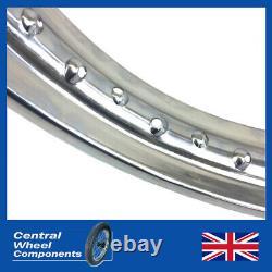 Chrome Rim & Spoke Set 16x1.85 Ariel Full Width (Arrow & Leader) Front or Rear
