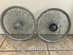 Custom Wheel Set Twisted 16 x 1.75 with144 Spokes Lowrider Cruiser Bikes