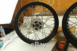 Ducati Scrambler Aluminum Spoke Front and Rear Rim Set Part # 96380031A