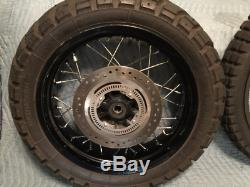 EXCELLENT Triumph Tiger XC OEM factory spoked dual sport ABS wheelset front rear