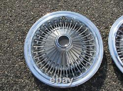 Factory 1975 to 1979 Chrysler Cordoba 15 inch wire spoke hubcaps wheel covers