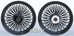 Fat Spoke 16 Front/rear Wheel Set Harley Softail Heritage Deluxe Slim Fls 08-17