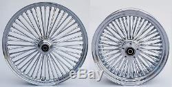 Fat Spoke 21 & 16 Front/rear Wheels Chrome Harley Softail Fxst Fxstc Night Train