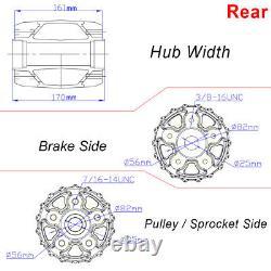 Fat Spoke 21 & 18 Chrome Wheels Rims Set For Softail FXST Dyna FXDWG Sportster