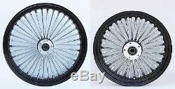 Fat Spoke 21 Front & 16 Rear Wheel Set Harley Electra Glide Road King Street