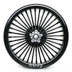 Fat Spoke Tubeless 21 Front 18 Rear Wheel Set Softail FLSTC FXST Dyna Series