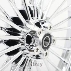 Fat Spoke Wheels Rims Set 21x2.15 18x5.5 for Harley Dyna Street Bob Low Rider