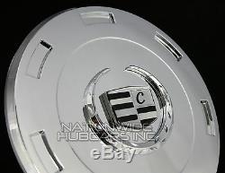 Fits 07-14 Cadillac Escalade Chrome 22 Wheel Center Hub Caps Hubs Rim Covers LC