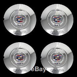 Fits 2015-2017 Cadillac Escalade 22 Chrome Wheel Center Hub Caps Rim Lug Covers
