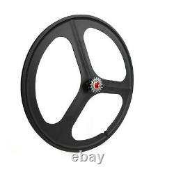Fixed Gear 700c 17 Teeth Tri Spoke Rim Front & Rear Set Single Speed Bike Wheels