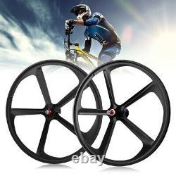 Fixed Gear 700c 5-Spoke Mag Rim Front Rear Single Speed Fixie Bicycle Wheel Set