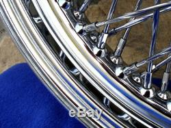 For 73-84 Harley Shovel Head 16 80 Spoke Twisted Front Rear Wheel
