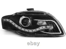For Audi A4 B7 04-08 RS4 Look Honeycomb Grill + LED Headlights+Rear Lights
