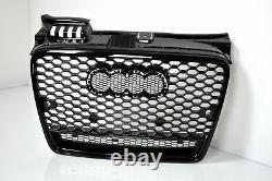 For Audi A4 B7 04-08 RS4 Look Honeycomb Grill+LED Rear Lights Bumper Diffuser