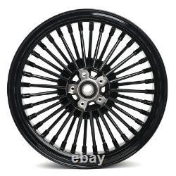 For Harley 16x3.5 Fat Spoke Front Rear Wheels Touring 84-07 Dyna Softail FXDWG