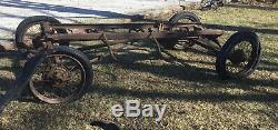 Ford Model T Frame Chassis Front End Rear End Wire Spoke Wheels