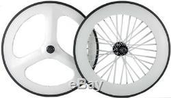 Front 70mm Tri Spoke Wheel Rear 88mm Clincher Front+Rear Carbon Wheelset 700C
