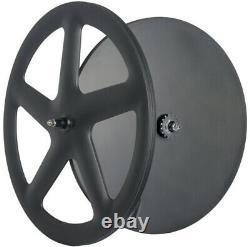 Front Five Spoke Wheels Rear Disc Wheels Track Bike Clincher Triathlon Wheelset