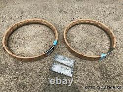 Front & Rear Wheel Rim 2pcs & Spoke 72pcs Honda C92 Ca92 Cs92 C95 Ca95