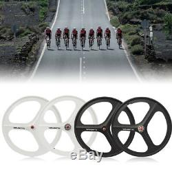 Front & Rear Wheel Set 700C 3-Spoke Fixie Fixed Gear Single Speed Bike Mag Rim