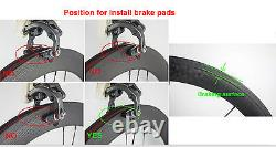 Front Tri Spoke Rear 88mm Fixed Gear Carbon Wheels Carbon Wheelset Track Bike 3K