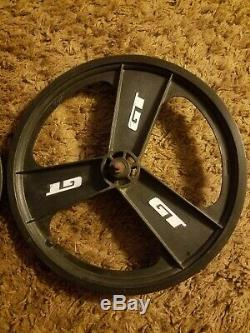 GT Performer BMX Mag Wheels 20 1980s 1990s Fan Mag Front & Rear 3 Spoke/Blades