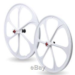 Gear Disc withQR 6Spoke 7/8/9/10 Speed MTB Bike Front&Rear Mag Wheel Rim Wheelset