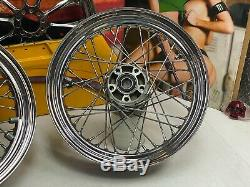 Genuine 00-08 Harley Touring Factory Laced Spokes Front & Rear Wheels 16x3