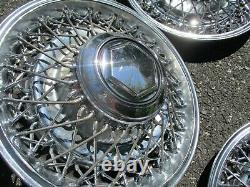 Genuine 1982 to 1989 Dodge Diplomat 15 inch wire spoke hubcaps wheel covers