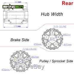 Gloss Black 21x3.5 & 16x3.5 Fat Spoke Front Rear Tubeless Wheel Rim Softail Dyna