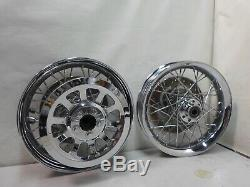HARLEY SOFTAIL SMOOTH RIM FRONT & REAR SPOKE 16 25mm Axle