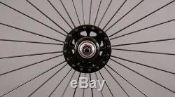 H + Plus Son Archetype Black rims Track Fixed Gear Bike Wheelset DT Spokes
