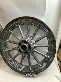 Harley Chrome 13 spoke 19 16 front rear Timken mag wheels rims
