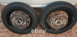 Harley Davidson 08-20 Softail Slim 16x3 Wheels Tires Laced Front Rear Spoke