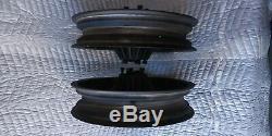 Harley Davidson OEM 16 Spoke Front & Rear Flat Black Powdercoated 16X3 Wheel Set