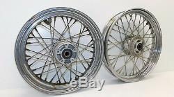 Harley Davidson OEM Dyna FXD Models OEM Front Rear Wheel Rim Spoke 00-05