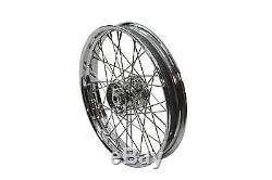 Harley Davidson Panhead Knucklehead Flathead 18 Front Rear Spoke Wheel Chrome