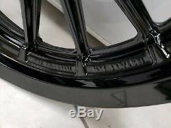 Harley Davidson Sportster Dyna 13 Spoke Front & Rear Wheels Rims Black