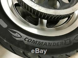 Harley Dyna Sportster Softail Front Rear Thunderstar 5 Spoke Mag Wheels Rim