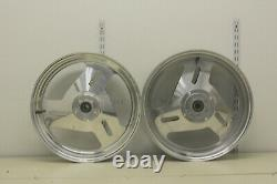 Harley Front 3.5 x 17 & Rear 5.5 x 17 Custom 3 Spoke Billet Aluminum Wheels