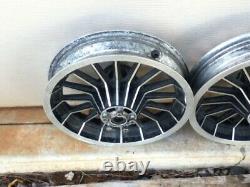 Harley Original Shovelhead Flh Front Rear 16 Spoke Mag Wheels Electra Glide