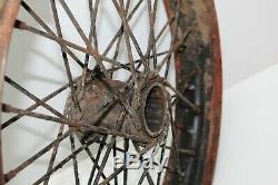 Harley VL VLD Springer Flathead 18 Front Rear Wheel Rim Hub Spokes GREAT PATINA