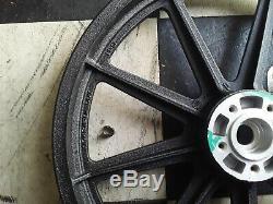 Harley davidson front rear Wheel Black FXR Dyna 9 Spoke rim mag mags 3/4 1984