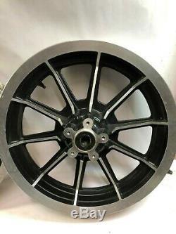 Harley front rear touring 16 10 spoke black cast mag wheels rims