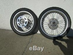Honda XR650R 2000-2007 Front & Rear Wheels Rims Hubs Discs Spokes, Sprocket