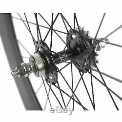 Hot Front 70 Tri Spoke Rear 88mm Track Wheel Clincher Fixed Gear Carbon Wheelset