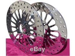 Kcint 11.5 Dna Super Spoke Polished Brake Rotors Front & Rear Pair Parts For Ha
