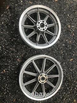 Mag Wheels 86-99 FXR Harley Cast 9 Nine Spoke Front 19 Rear 16 Rims CLEAN
