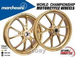 Marchesini Wheels Kawasaki Ninja 400 (10-Spoke Kompe, Front and Rear Set)
