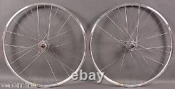 Mavic Open Pro Silver Rims Track Bike Wheels SingleSpeed Wheelset 32H DT Spokes